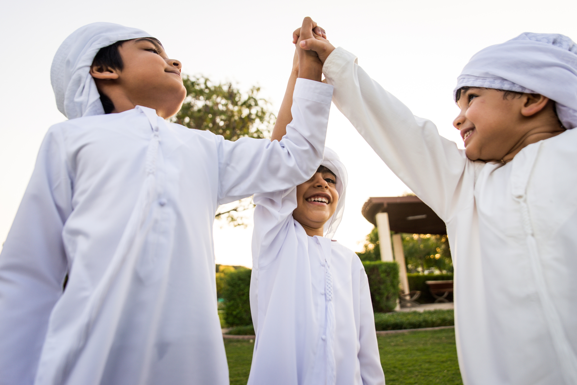 Group of middle eastern kids